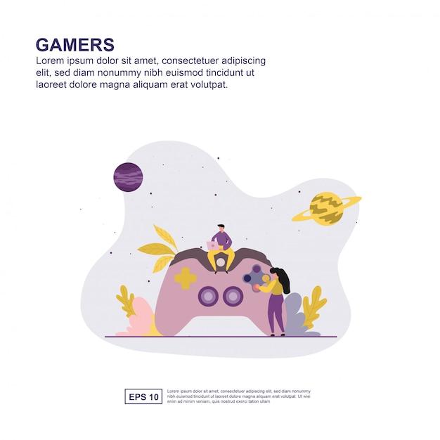 ゲーマーのコンセプト Premiumベクター