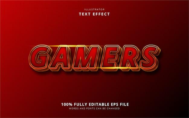 Текстовый эффект для геймеров Premium векторы