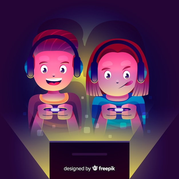 Gamers Free Vector