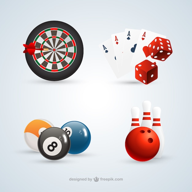 Games collection Free Vector