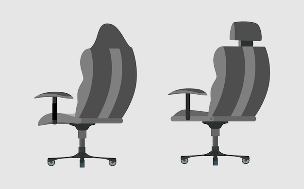 Gaming chair interior design Vector Premium Download