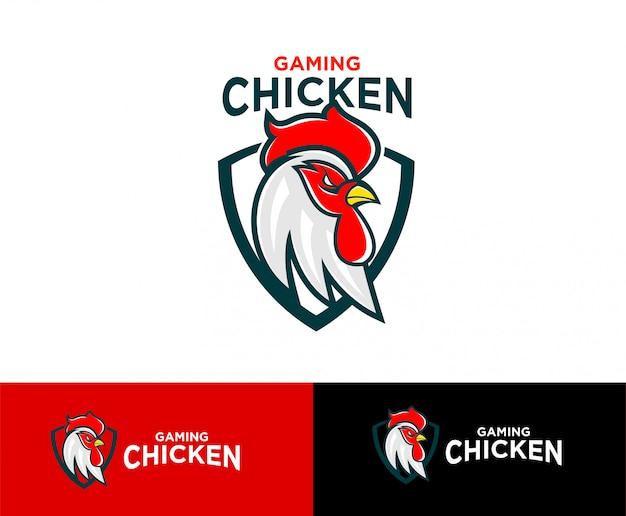 Gaming chicken logo sport Premium Vector