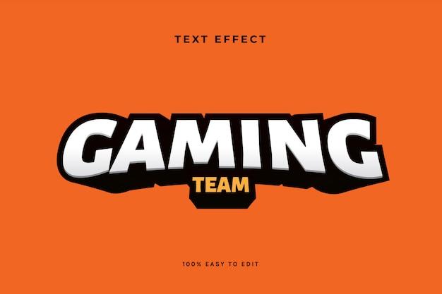 Gaming esport logo текстовый эффект Premium векторы