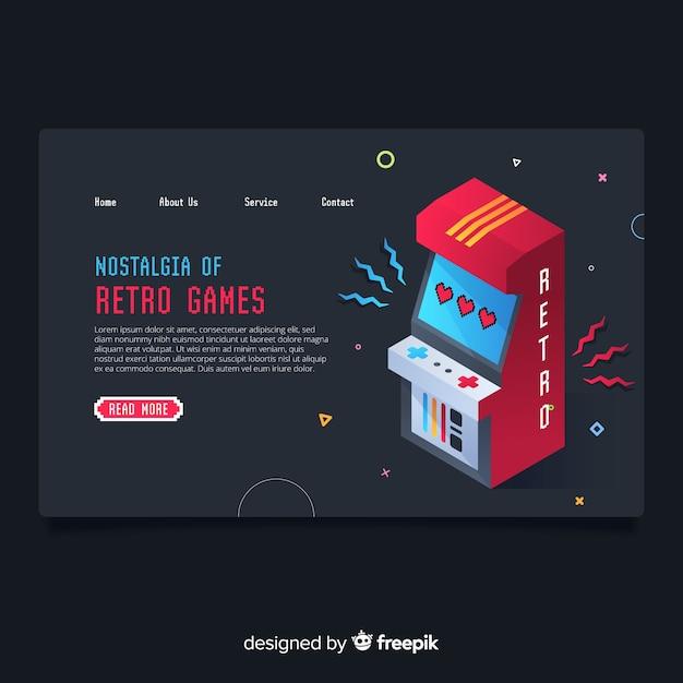 Gaming landing page Free Vector