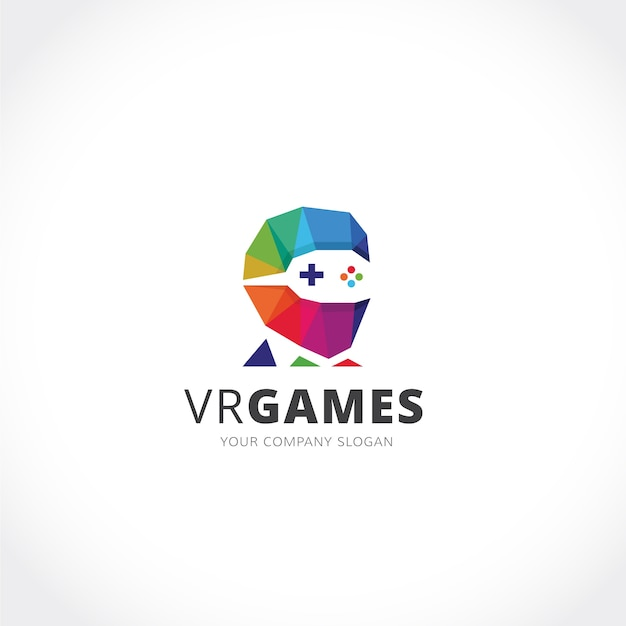 Gaming logo design Free Vector