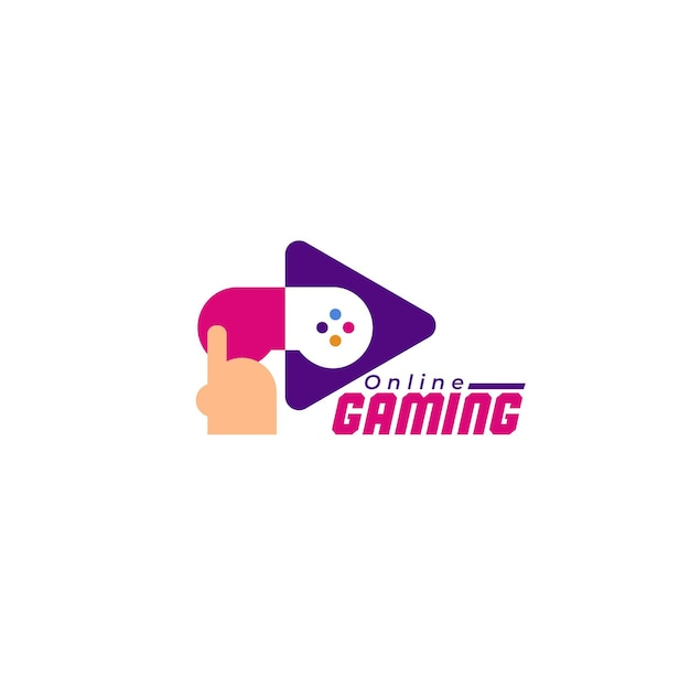 Gaming logo template with console illustrated Free Vector
