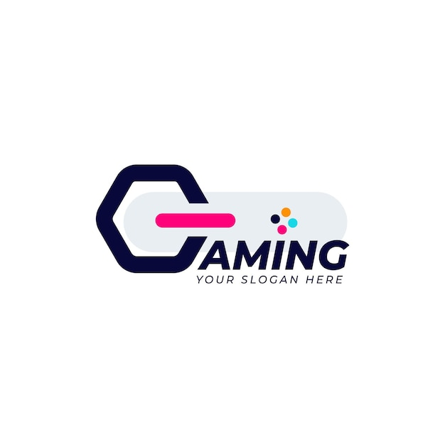 Gaming logo template Free Vector