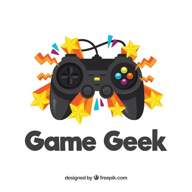 Gaming logo with stars Free Vector