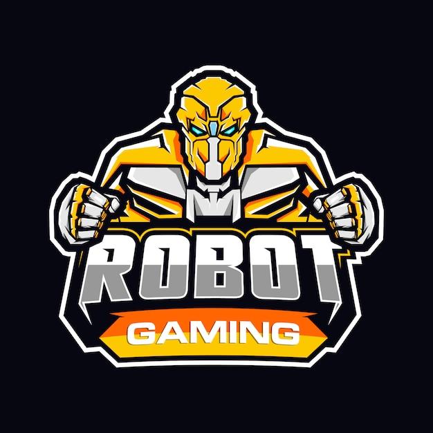 Логотип игрового робота Premium векторы