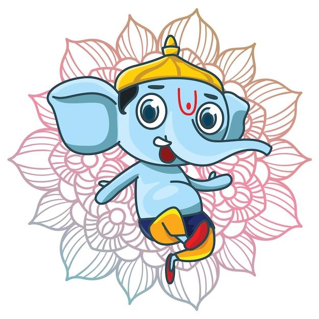 Ganesha background design Free Vector