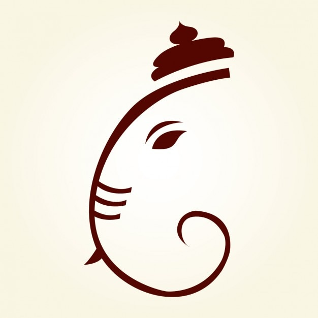 Ganesha Drawing Silhouette Free Vector