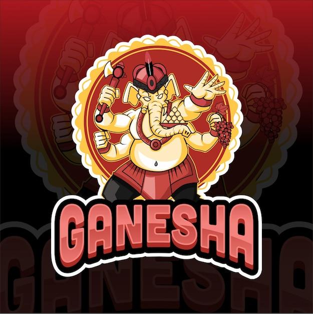 Ganesha elephant mascot esport logo Premium Vector