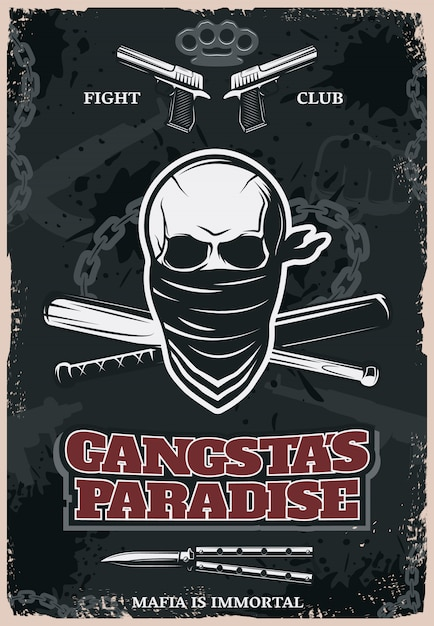 Poster di gangstas paradise Vettore gratuito