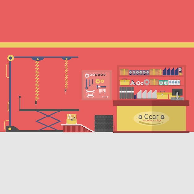 Garage background design vector free download for Garage design software free