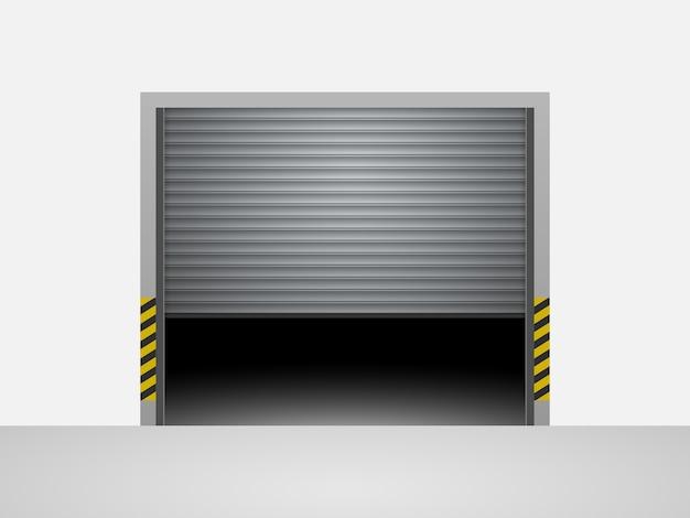 Garage door Premium Vector
