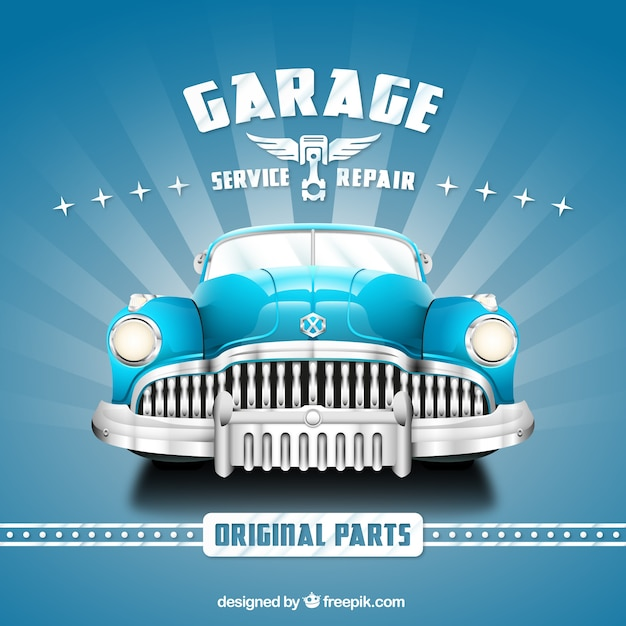 Garage poster Free Vector