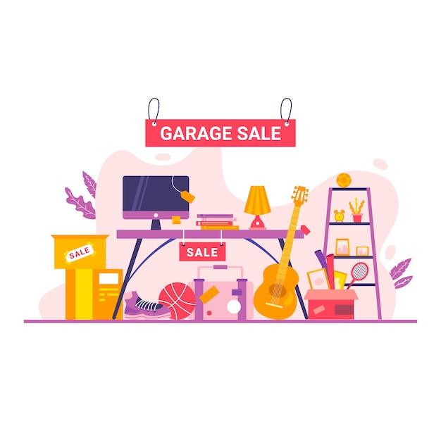 Garage sale concept Free Vector