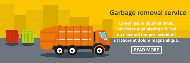 Garbage removal service banner horizontal concept Premium Vector