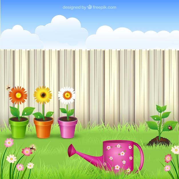 Garden illustration Free Vector