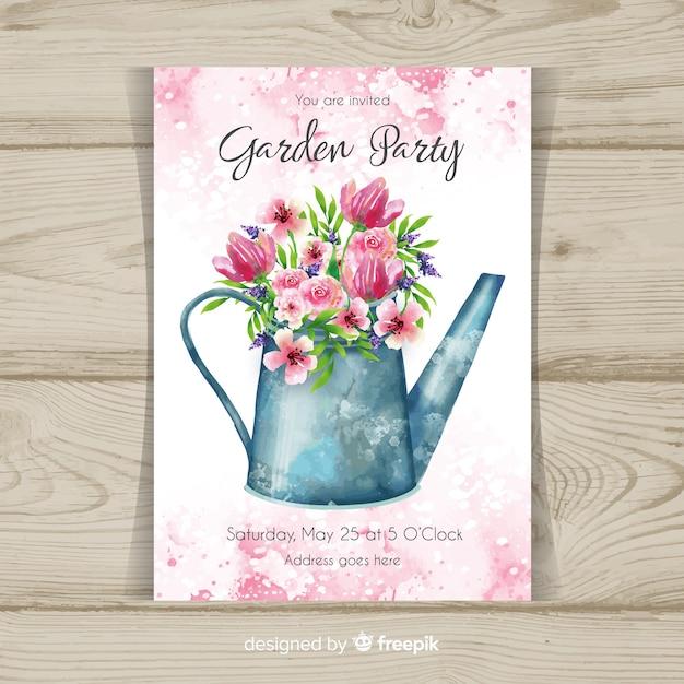 Garden party flyer Free Vector