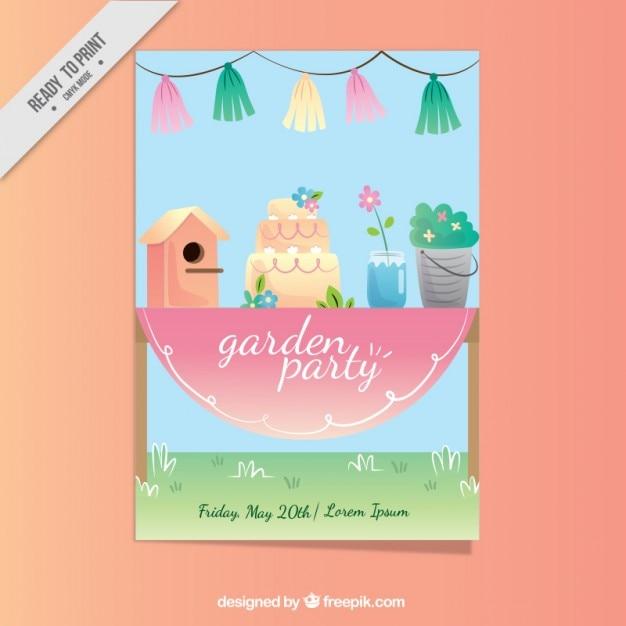 Garden party invitation design vector free download garden party invitation design free vector stopboris Choice Image