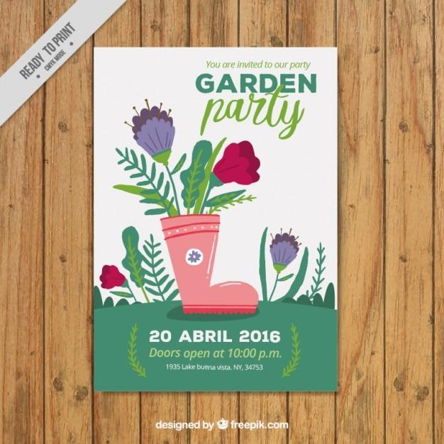 Garden Party Poster Design Vector