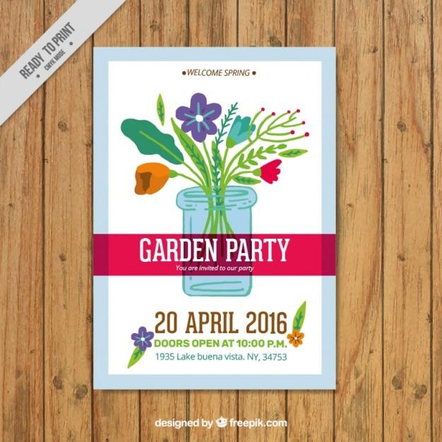 Garden Party Poster Vector