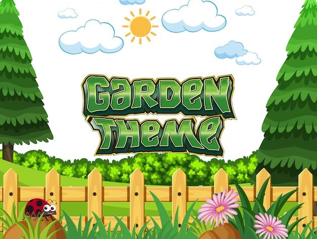 정원 테마 컨셉 장면 프리미엄 벡터