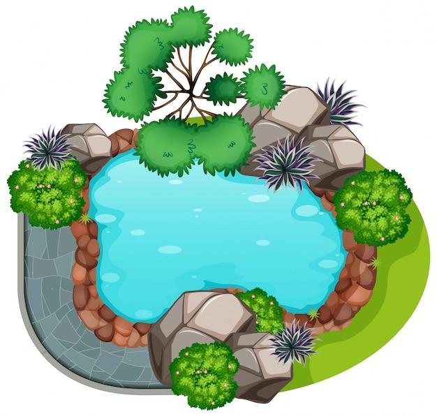 A garden top view Free Vector
