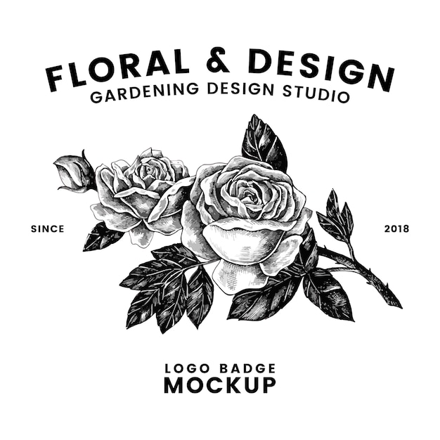 Gardening and floral logo design vector Free Vector