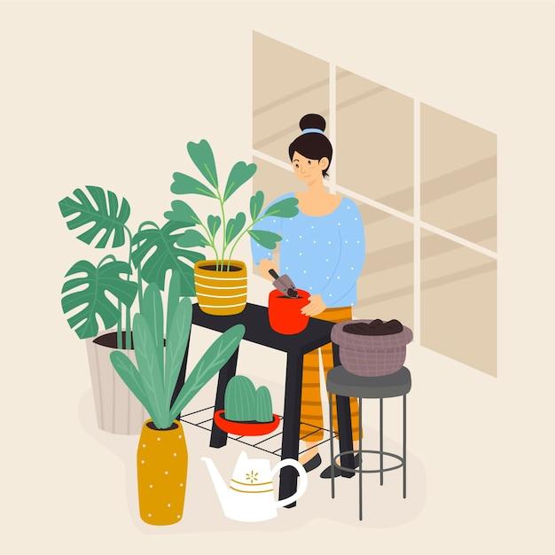 Садоводство дома концепции Бесплатные векторы