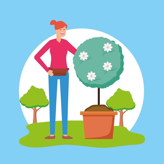 Gardening concept Free Vector