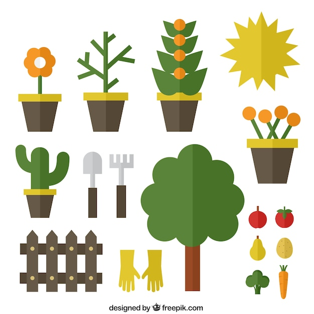 Gardening icons vector free download for Gardening tools vector