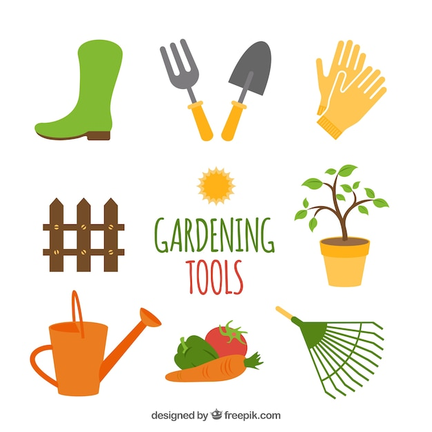 gardening tools vector free download