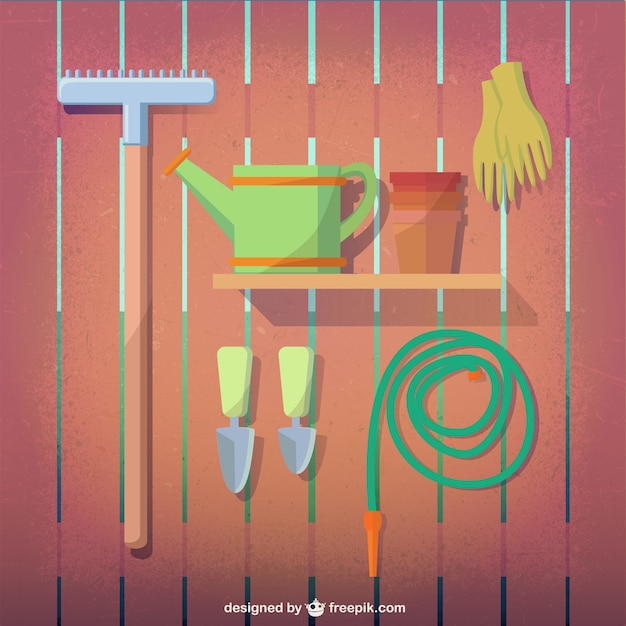 Gardening tools Premium Vector