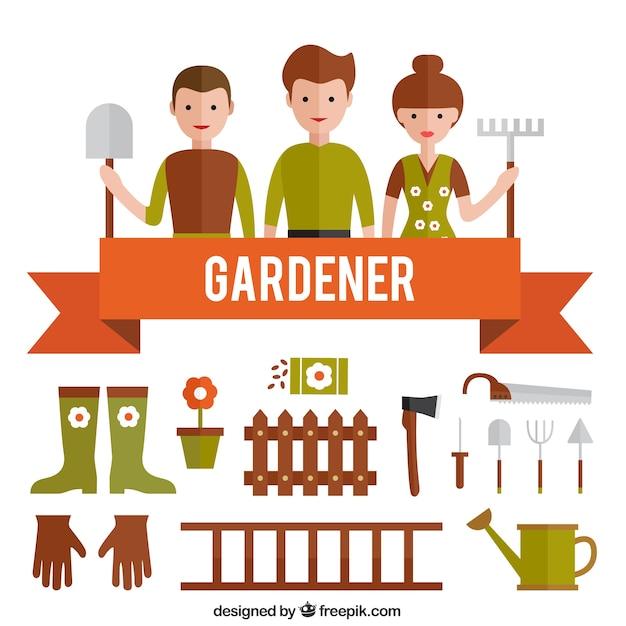 Garderner Free Vector