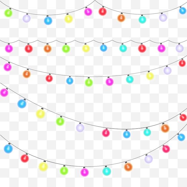 Garland element for festive background. Premium Vector