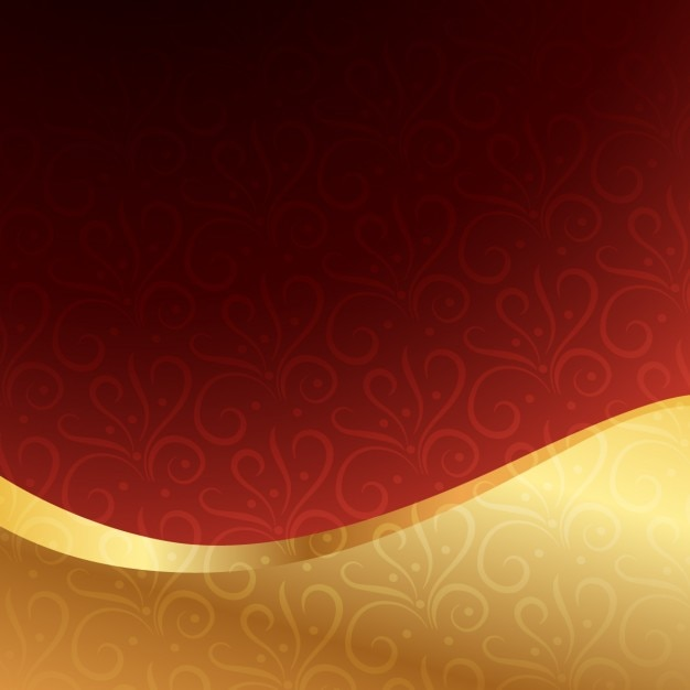 Garnet Background With Golden Wave Vector Free Download