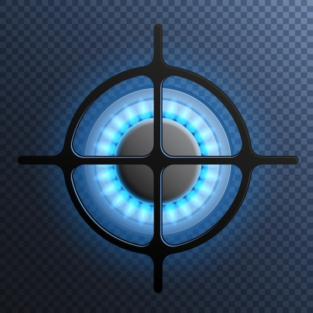 Gas flame burner plate composition Free Vector