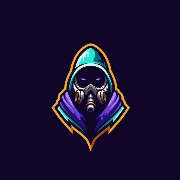 Gas mask logo premium illustration Premium Vector