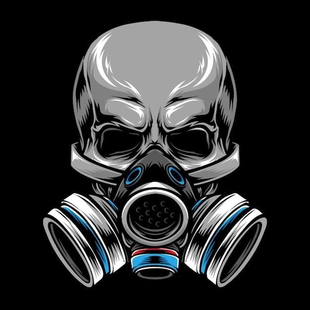 Gas mask skull Premium Vector