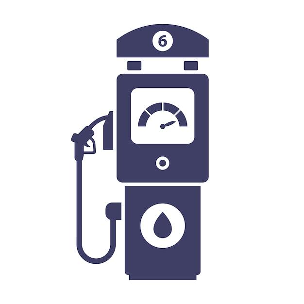 Значок азс на белом фоне. купить газ для авто. плоская иллюстрация. Premium векторы