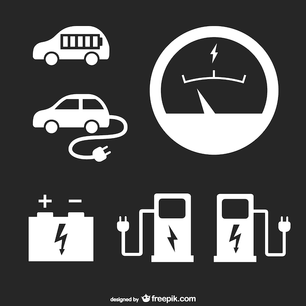 Gas stationicons set Free Vector