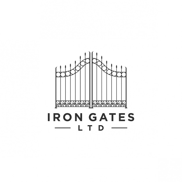 Gate logo design Premium Vector