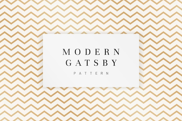 Gatsby patterned frame Free Vector