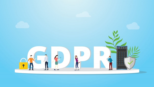 Gdpr general data protection regulation concept Premium Vector