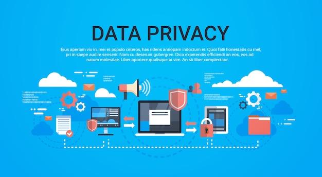 Gdpr isometric infographic data privacy Premium Vector