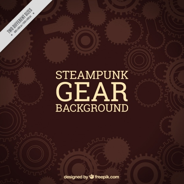 Gear background in brown tones Free Vector