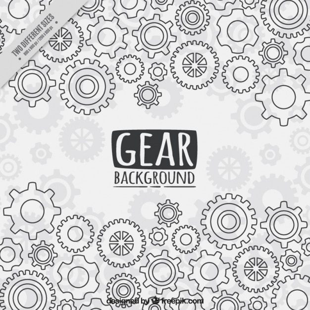 Gear background in flat style Free Vector