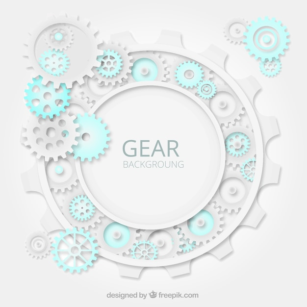 Gear background with blue details Free Vector